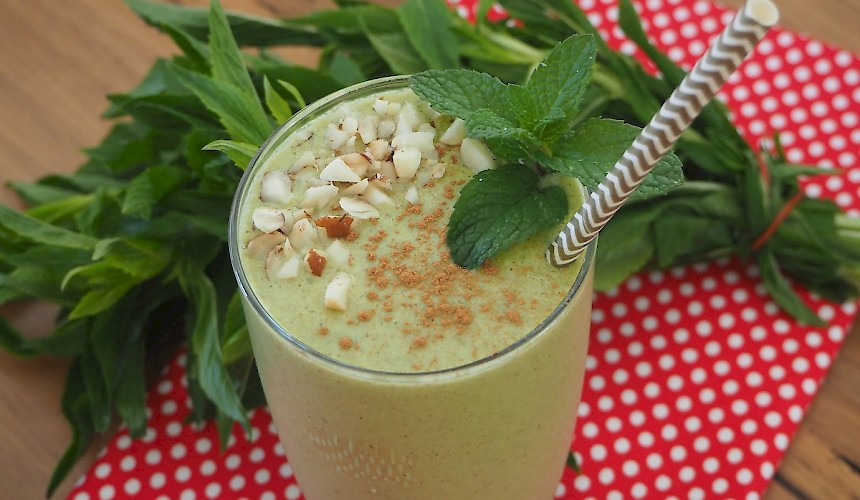 Spearmint Smoothie dairy free