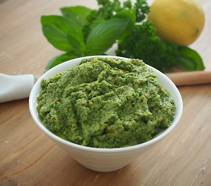 Basil and Lemon Pesto