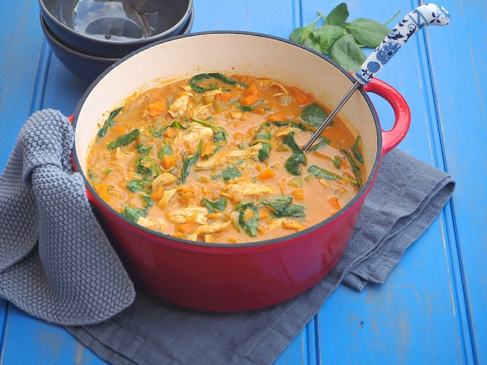 Creamy Chicken Mulligatawny Soup Paleo The Joyful Table