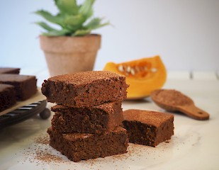 Spiced Pumpkin Brownies