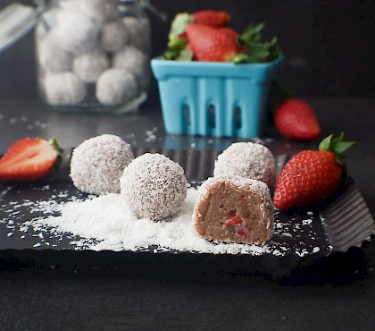 Strawberry Shortcake Bliss Balls