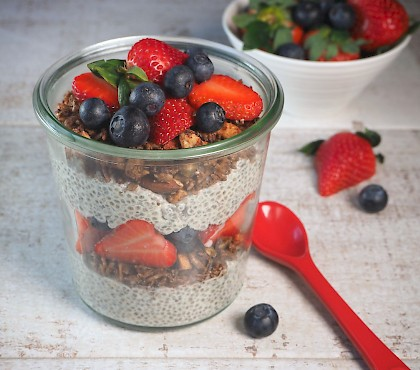Chia and Granola Parfait