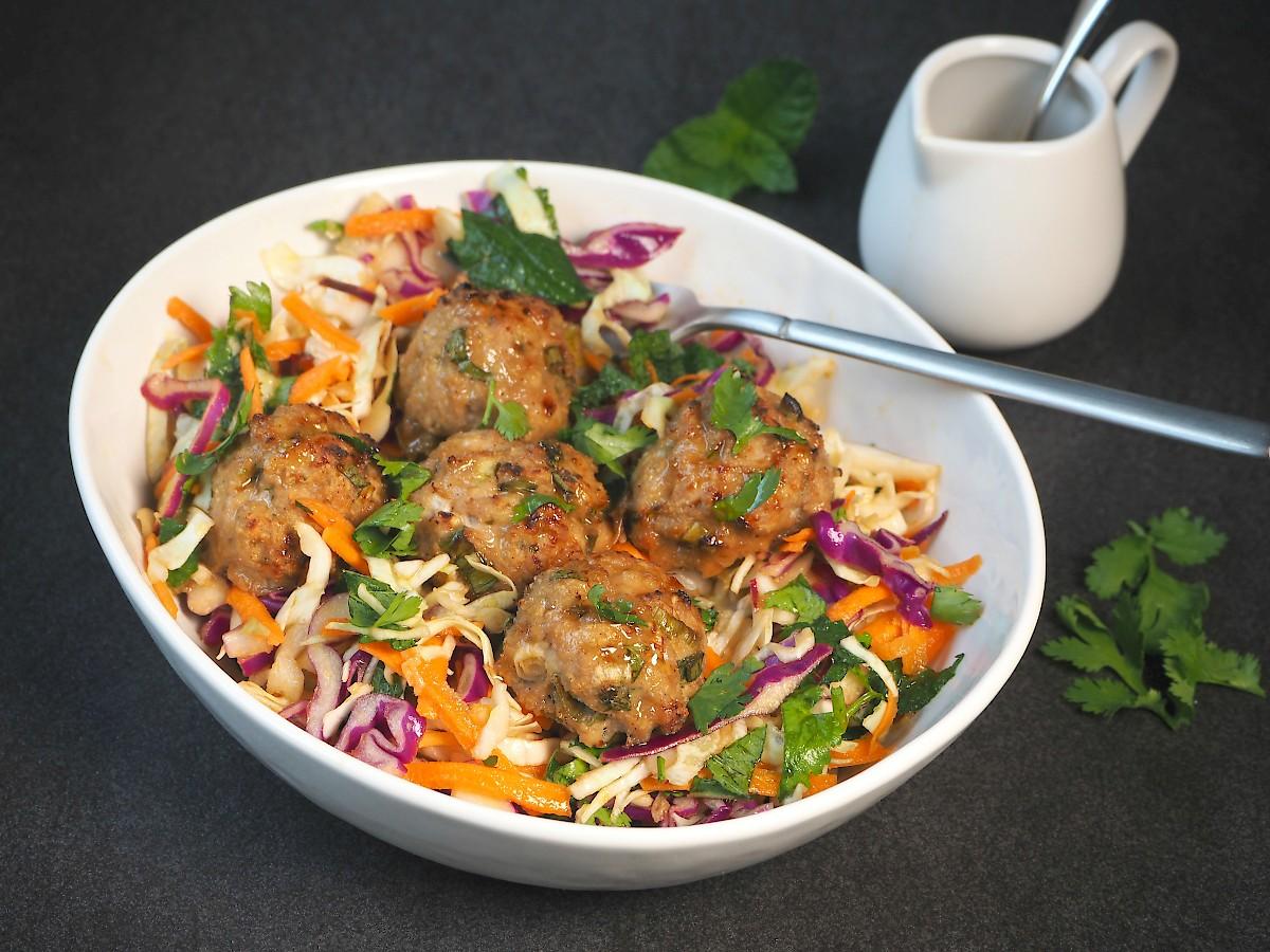 Asian Meatball Salad Paleo The Joyful Table