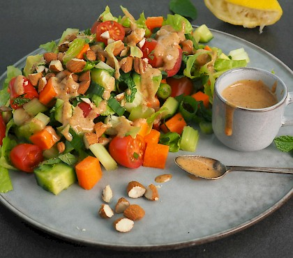 Chopped Mixed Salad with Almonds