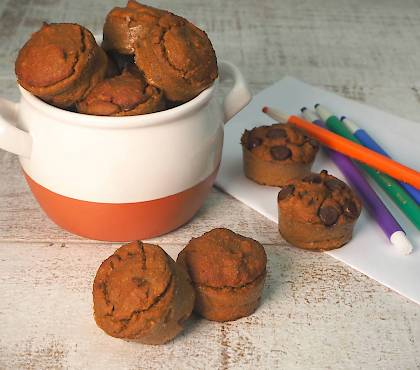 Sweet Potato & Banana Mini Muffins