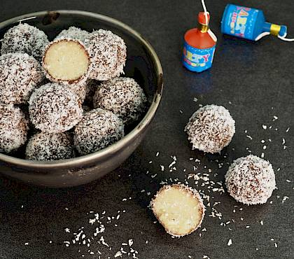 Raw Lamington Balls